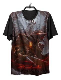 Camiseta Camisa Berserk Mangá Anime Guts Otaku Game 681 .