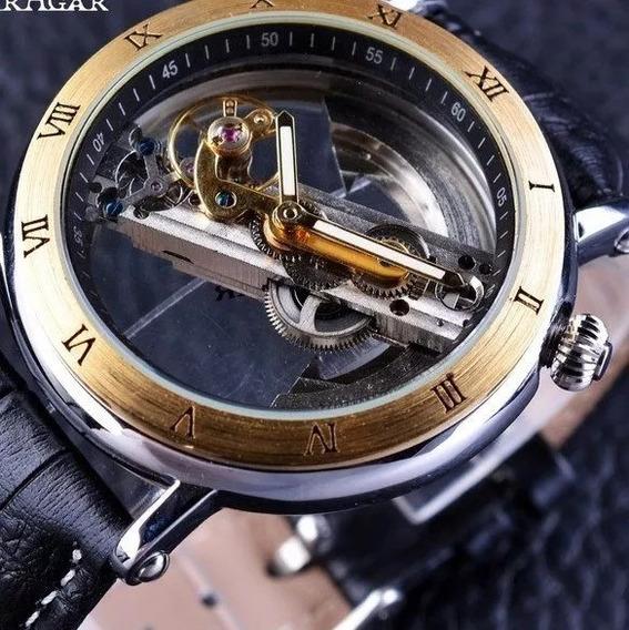 Relógio Luxo Forsining Automático + Caixa + Rel. Skmei Dig.