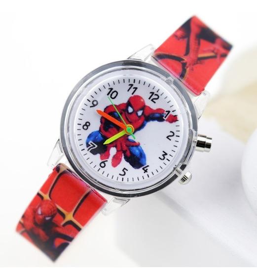 Relógio Infantil Homem Aranha Luzes - Único No Ml