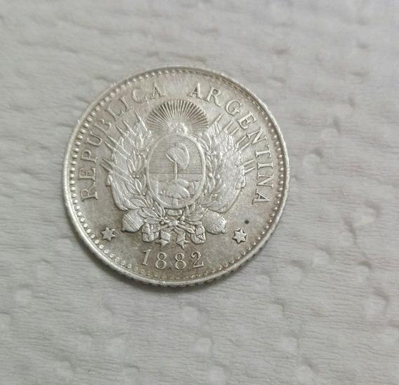 Moneda Antigua Argentina 10 Ctvs Año 1882