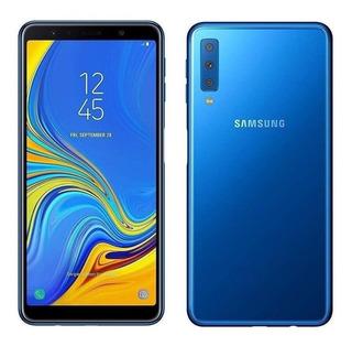 Samsung Galaxy A7 2018 64 Gb Azul 4 Gb Ram Nuevo Oferta