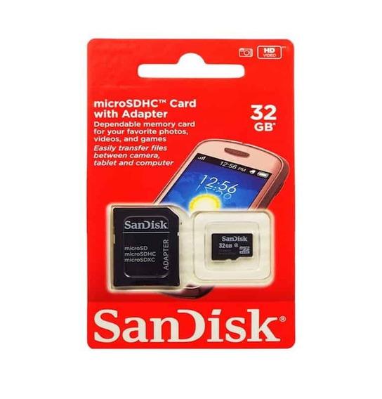Cartão Memória Sandisk 32gb Micro Sd Classe 10