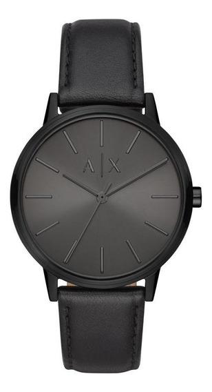 Relógio Masculino Armani Echange Ax2705/0pn 42mm Couro Preto