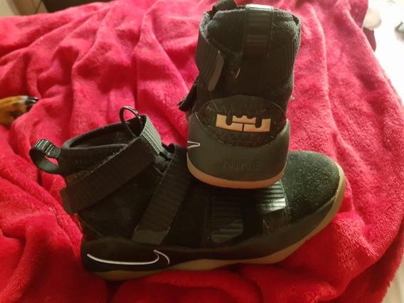 Zapatillas Le Bron Negras Kids !!!!! Usadas !!!!