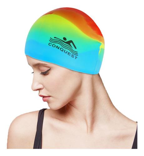 Silicone Swim Cap Moda Unisex Impermeável #2