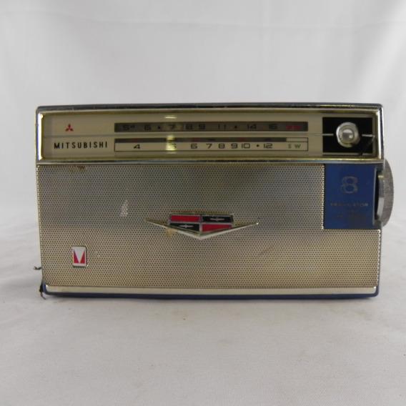 Rádio Vintage Mitsubishi 8x-584t Relíquia Raro - Usado