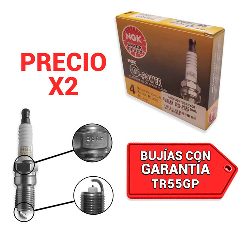 Bujia Ngk Platinium Grand Blazer V8 5.7 Sfi 98-00