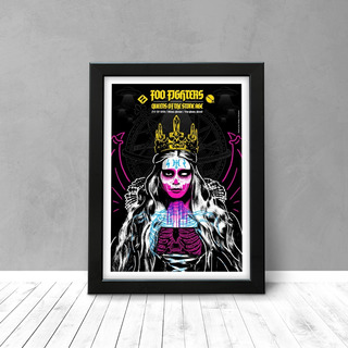 Quadro Show Foo Fighters & Queens Of The Stone Age - Sp - A3
