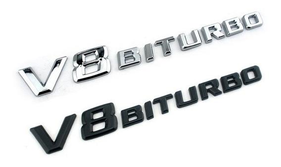 Emblema Mercedes Benz V8 Biturbo Ml63 Gl500 C63 Slk Classe C