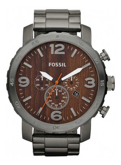 Relógio Masculino Fossil Nate Chronograph Fjr1355z Fumê
