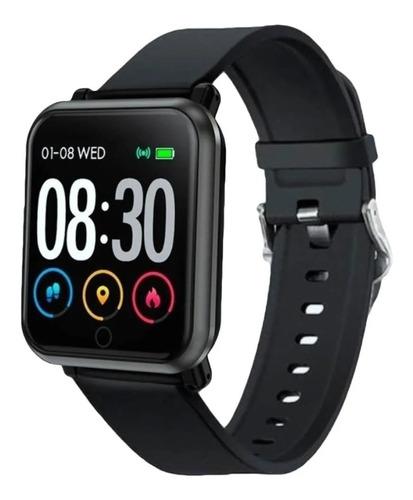 """Smartwatch Nictom Smartwatch SW11 1.54"""" caja  negra malla  negra de  silicona"""
