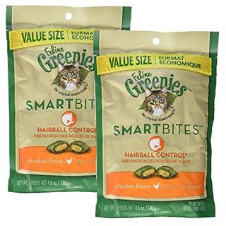 Greene Greenies Smartbites Hairball Control Chicken (4.6 Oz)