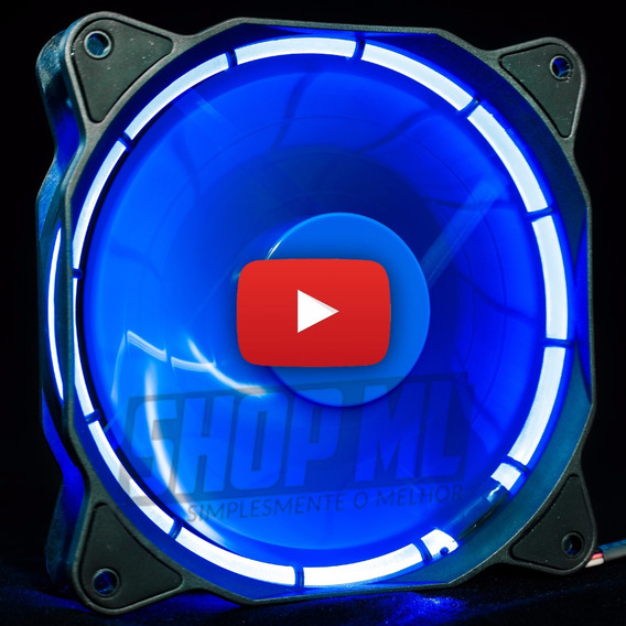 Cooler Fan Pc Gamer 120mm Led Azul Ventoinha Dx-12f