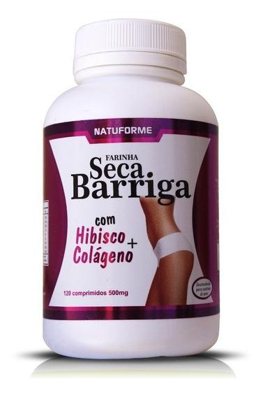 Seca Barriga Com Hibisco E Colágeno 500mg 120 Comprimidos