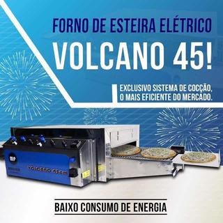 Forno De Esteira Pizza Profissional Volcano 45 Metallo Prime