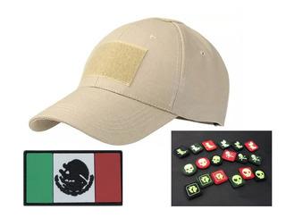 Gorra Tactica Militar Para Parche + Parche Pvc Mexico