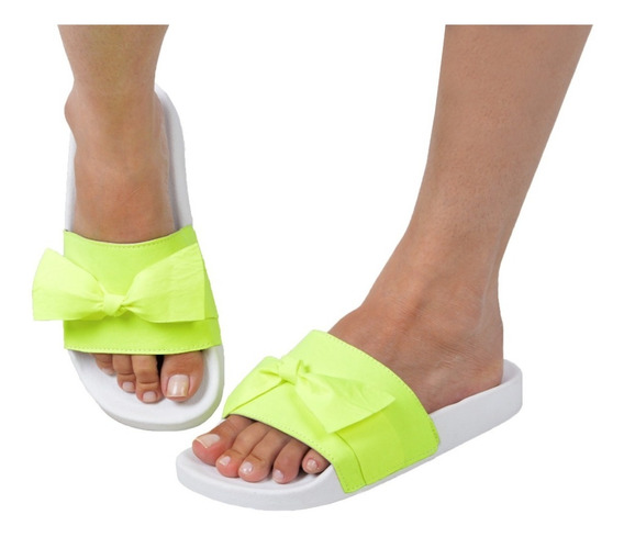Kit 3 Pares Chinelo Slide Neon Feminino Moda Blogueiras Top!