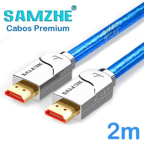 Cabo Hdmi 2.0a Samzhe 2m 4k Hdr Ultra Hd Profissional Gamer