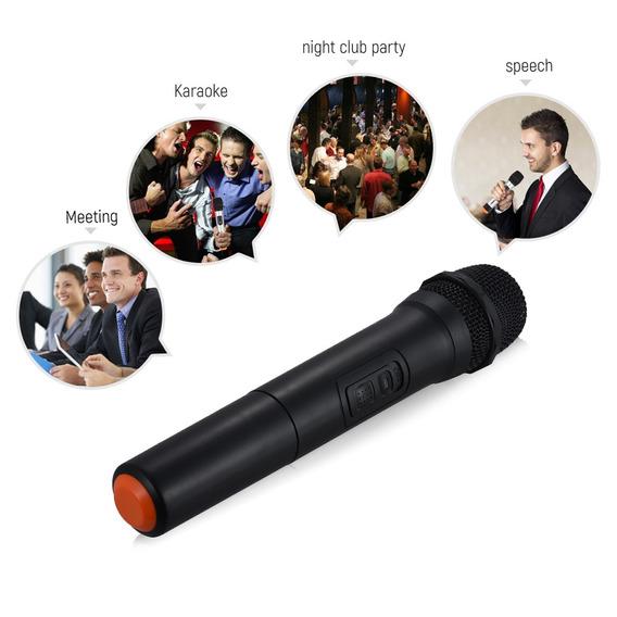 Vhf Handheld Microfone Sem Fio Mic Sistema 5 Canais Para