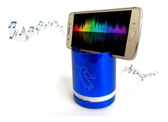 Mini Caixa De Som Bluetooth Com Encaixe Para Celular