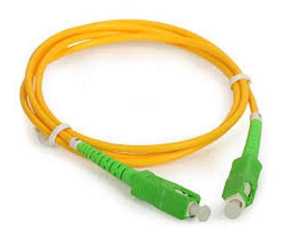 Kit 5 Cordão Optico Patch Cord Fibra Optica Sc Apc 2m