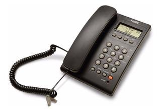 Teléfono Alámbrico Con Identificador Mt883 Misik Negro