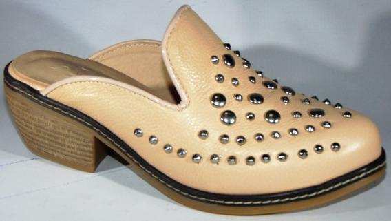 Zapatos Suecos Mujer Sandalias Cuero Art 1184