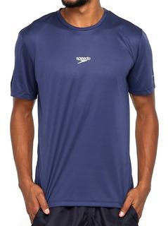 Camisa Speedo Interlock Masculina Azul Marinho