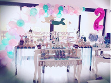 Mesa Completa. Candy Bar. Ambientación Mesa.sirena! Consulte