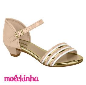 Sandalia Infantil Menina Molekinha Sapato Com Salto Ccv