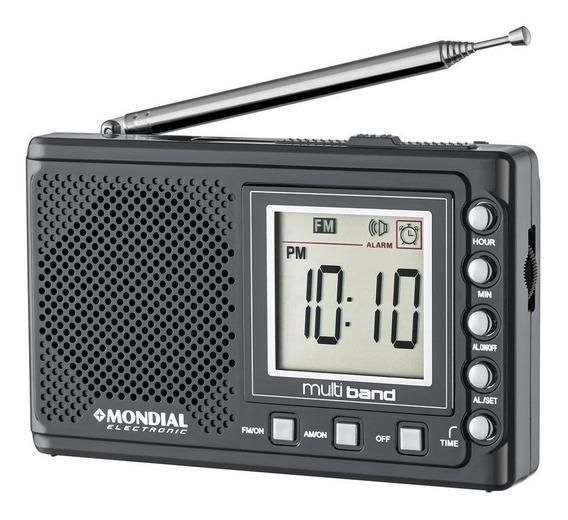 Rádio Portátil Multi Band Mondial - Rp04 - Preto