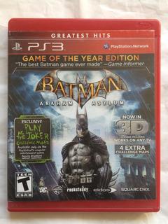 Batman Arkham Asylum 3d Ps3. Envíos Todo Chile