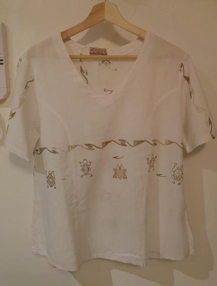 Blusa Estampado Egipcio Droixis Algodón Rústico Talle 3