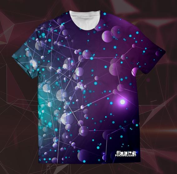Camiseta Psicodélica Cósmica Rave Trance Dj