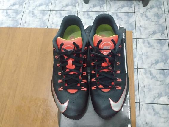 Tênis Nike Shox 4 Molas Preto E Laranja