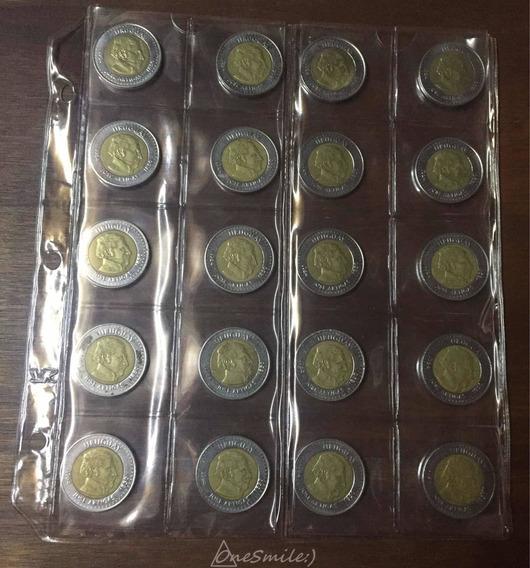 Onesmile:) Lote De 20 Monedas De Uruguay En Folio Vk