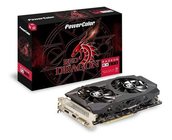 Placa De Video Power Color Radeon Rx 590 8gb Red Dragon Dhd