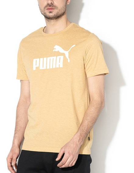 Remera Puma Ess+ Heather Tee Amarillo - Corner Deportes