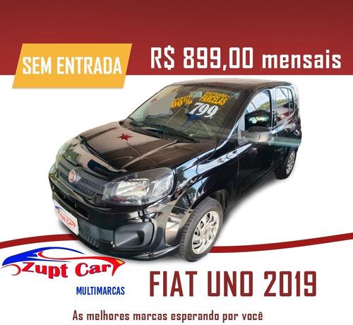 Fiat Uno Attractive 2019 Zero Entrada Carro Para Aplicativo