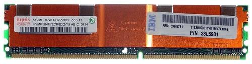 Memória Ibm 512mb Servidor 1rx8 Pc2 5300f 555-11 P/n 39m5781