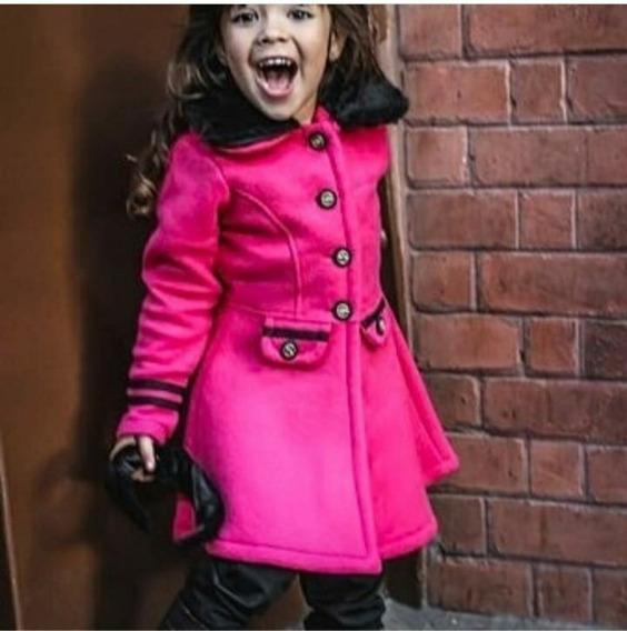 Casaco Sobretudo Infantil Menina Mini Diva Luxo Inverno 2019