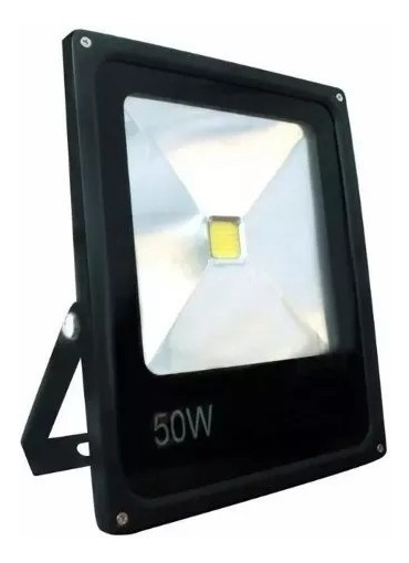 Kit 2 Refletor De Led Holofote 50w Bivolt Branco Frio Ip66