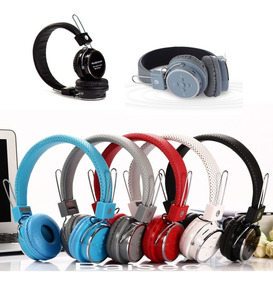 2 Fone Ouvido Bluetooth Recarregável S/ Fio Aux P2 Sd B-05