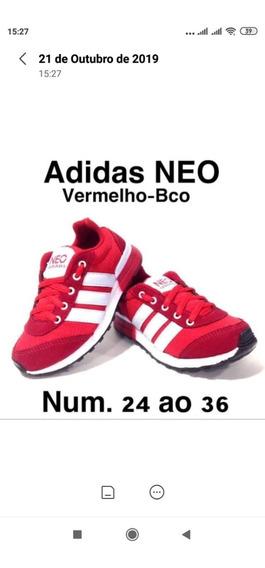 Tenis Masculino Infantil adidas Vermelho Esportivo Lancament