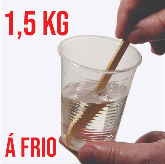 Resina Epoxi Cristal Flexível P/ Brindes | Á Frio | 1,5 Kg
