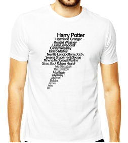 Camisa Harry Potter Draco Malfoy Hermione Ron Luna Masculina