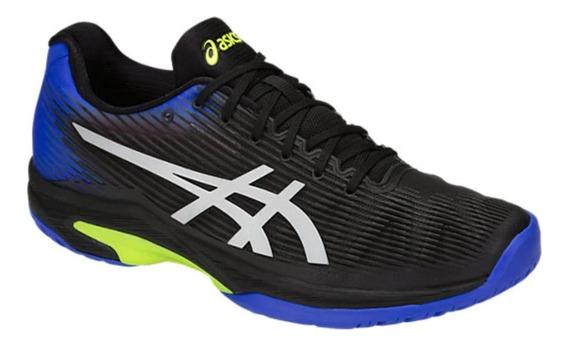 Tênis Para Jogar Tênis Asics Solution Speed Ff Black E Blue