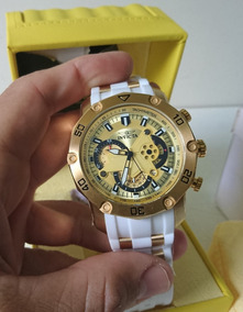Invicta Pro Driver Silicone Casual:white Model: 23424
