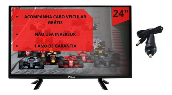 Tv 12 Volts Digital 12 V Hd 24 Pol Monitor Hdmi Usb Philco