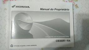 Honda Cb 300 - Manual De Proprietario